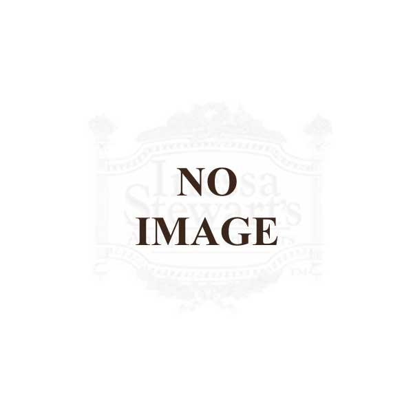 Antique Italian Rococo Brass & Turquoise Glass Chandelier