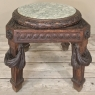 19th Century French Louis XVI Marble Top Lamp Table ~ Pedestal