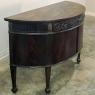 19th Century English Neoclassical Demilune Buffet ca. 1890