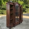 19th Century French Louis XVI Rosewood Triple Display Armoire ~ Bookcase