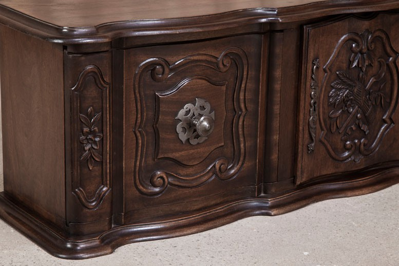 Antique Country French Walnut Wall Cabinet Inessa