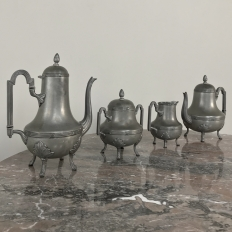 Antique French Pewter Coffee Set