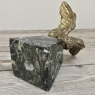 Statue, Antique French Bronze Bird, on Marble Base