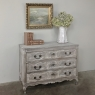 18th Century Country French Whitewashed Oak Commode