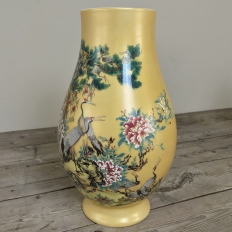 Pair Antique Hand-Painted Chinese Vases