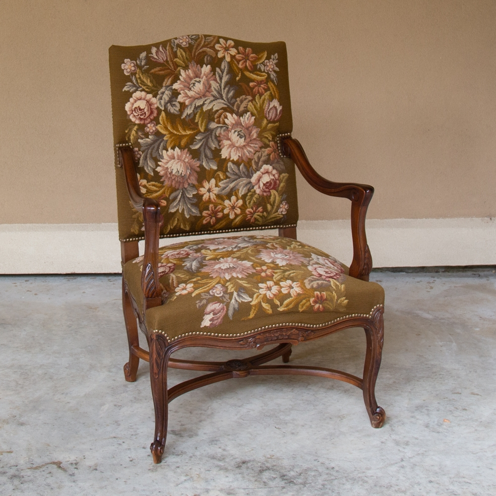 19th Century Antique French Louis XV Needlepoint Tapestry ...