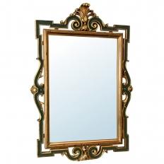 Antique Baroque Painted Mirror