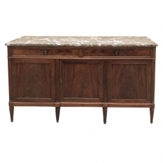 19th Century French Directoire Marble Top Buffet