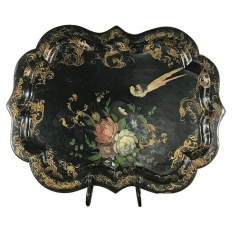 Serving Tray, 19th Century English in Papier Mache