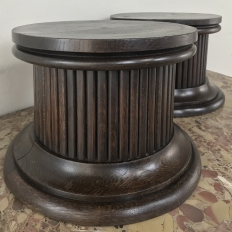 Pair Antique Neoclassical Pedestals ~ Risers