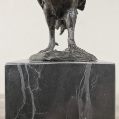 Mid-Century Bronze Statue of Rooster