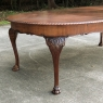 Antique English Mahogany Chippendale Dining Table with Leaf