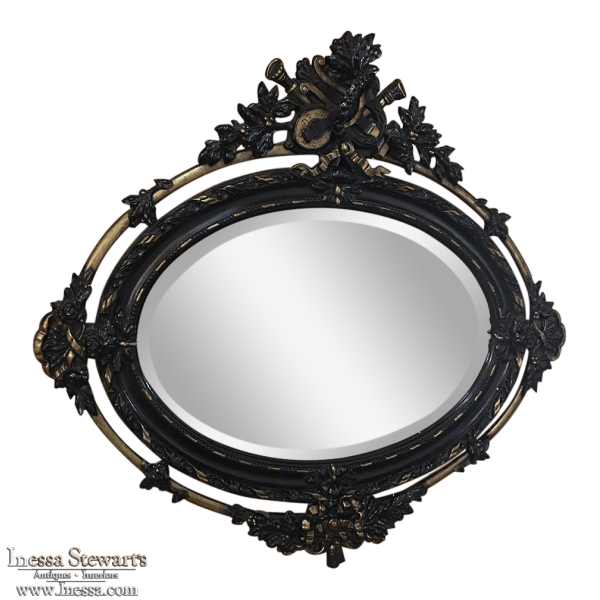 Antique French 19th Century Louis XVI Oval Mirror