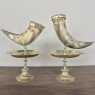 Pair 19th Century Bronze-Mounted Horn Bookends