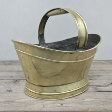 Antique Brass Kindling Basket