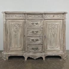 19th Century Liegoise Whitewashed Buffet