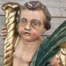 19th Century Italian Hand Carved & Painted Cherub
