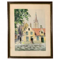 Framed Mid-Century Water Color by L.Dard ~ 1952