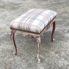Antique French Louis XV Painted Stool