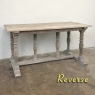 Antique Rustic Country French Whitewashed Sofa Table