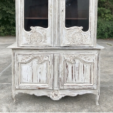 19th Century Country French Painted Bookcase ~ Buffet a Deux Corps