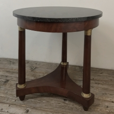 19th Century French Napoleon III Period Marble Top End Table ~ Gueridon