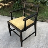 Armchair, Antique Chinoiserie Style with Silk Upholstery