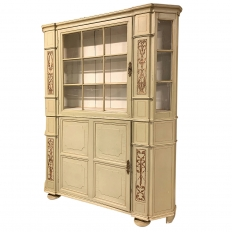 19th Century Swedish Painted Shallow Cupboard ~ Bookcase