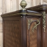 19th Century Louis XVI Bronze Mounted Mahogany Armoire by Schmit of Paris