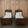 Pair 19th Century Louis XVI Bronze Mounted Mahogany Beds by Schmit of Paris