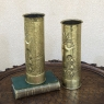 Pair World War I Brass Cannon Shell Vases