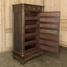 19th Century French Louis XVI Mahogany Cabinet