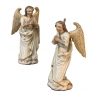 Pair 18th Century Hand Carved and Painted Italian Angels