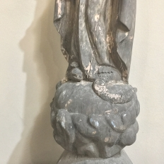 18th Century Carved Wood Madonna Statue