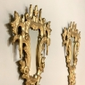 Pair Antique Italian Baroque Carved Giltwood Mirrors
