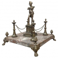 19th Century Bronze Napoleon Statue on Marble Base