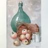 Framed Watercolor by Pol Antonis, ca. Mid-Century