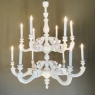 Pair Antique Painted Chandeliers