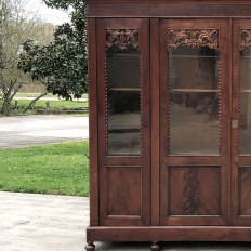 Bookcase, 19th Century French Louis Philippe Period in Mahogany