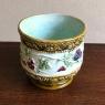 Antique Cachet Pot, Hand-Painted Earthenware