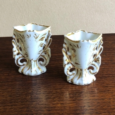 Pair Petite French View Paris Vases, ca. 1890s