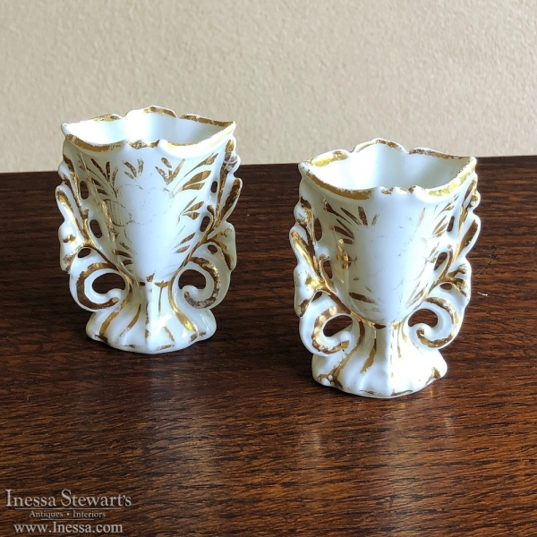 Pair Petite French View Paris Vases, ca. 1890s