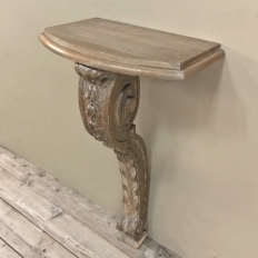 19th Century French Louis XIV Stripped Oak Console