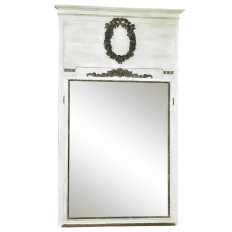 19th Century Neoclassical Painted Trumeau Mirror