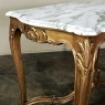 Giltwood Table, 19th Century French Louis XV with Marble Top