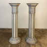 Pair Antique Neoclassical Painted Pedestals in the Louis XVI Style