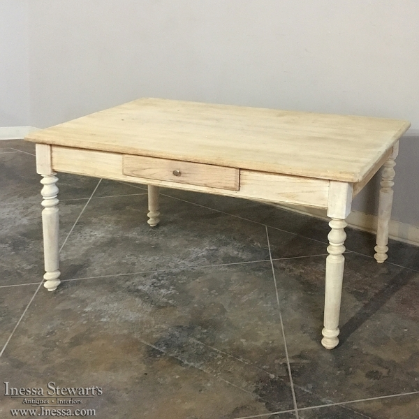 Country French Maple Farm Table/Desk ca. 1870