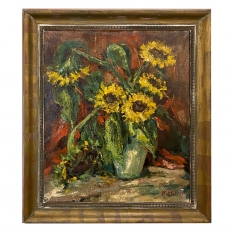 Framed Oil Painting on Canvas by Rene Morren (1900-1971)