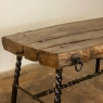 Rustic French Wrought Iron and Timber Coffee Table