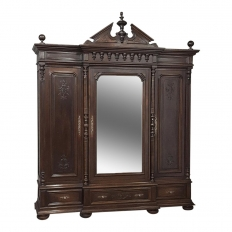 19th Century Neoclassical Revival Three Door Armoire